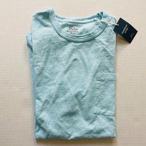 NWT J. Crew Men's Garment Dyed Pocket Tee S
